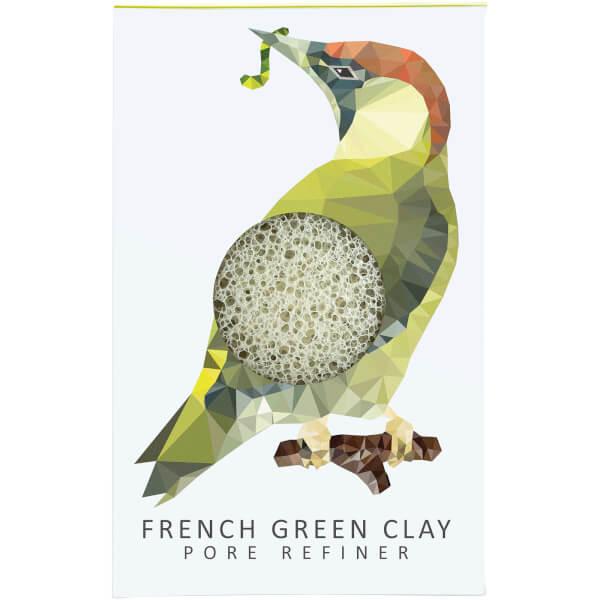 The Konjac Sponge Company Woodland Woodpecker Pure Konjac Mini Pore Refiner - Green Clay 12g