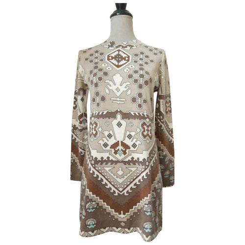 Leonard Beige Wool Dress