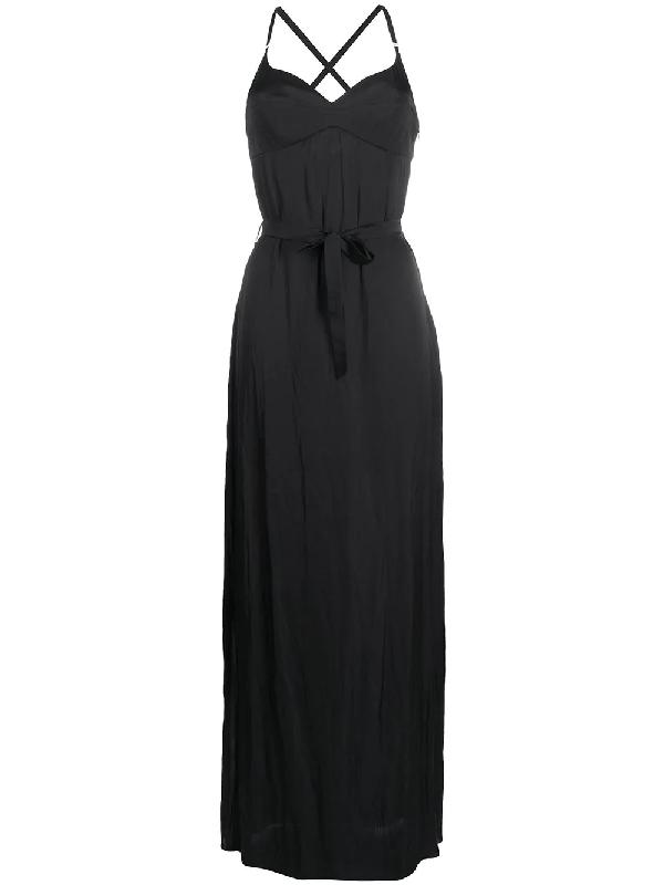 Murmur Escapade Tie-waist Maxi Dress In Black