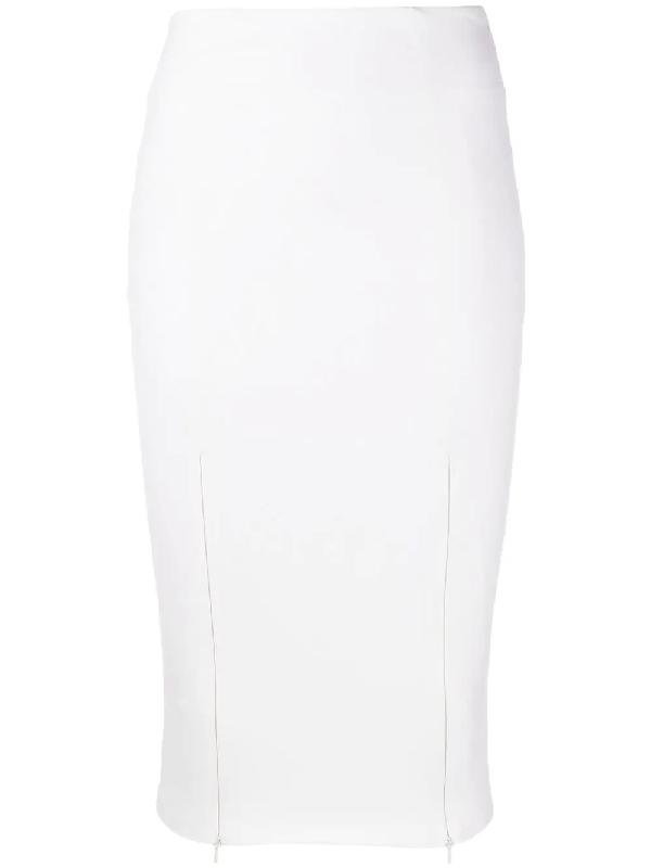 Murmur Core Fitted Midi Skirt In White