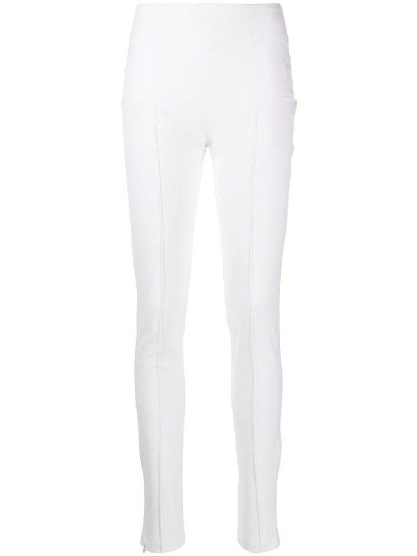 Murmur Core Zipped Skinny Trousers In White