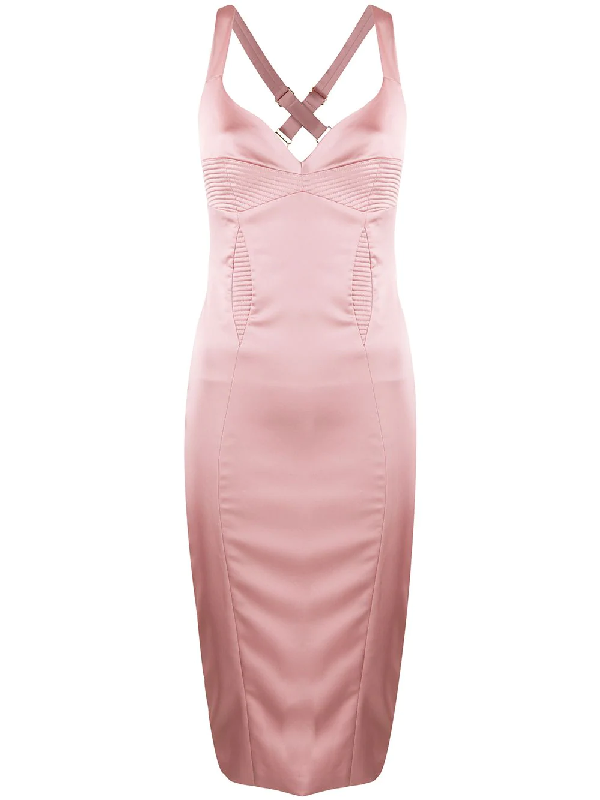 Murmur Haze Fitted Cocktail Dress In Pink