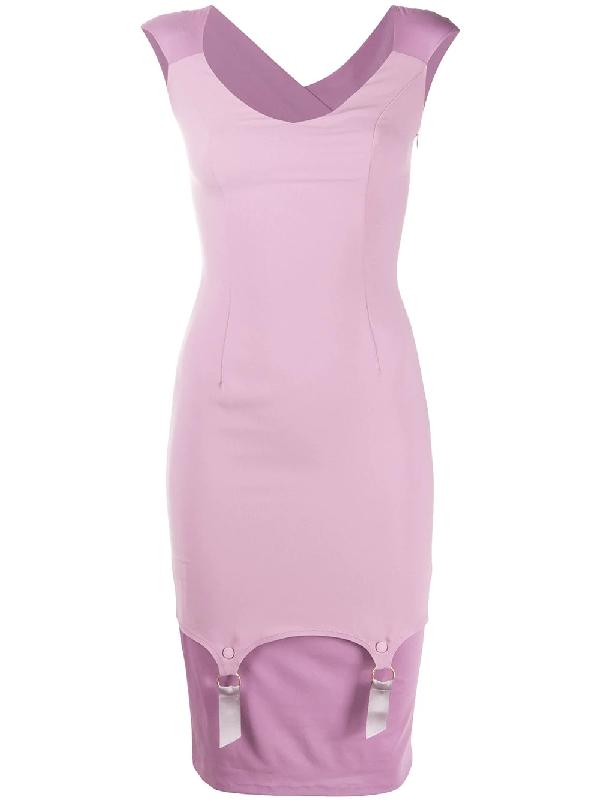 Murmur Profane Layered Cocktail Dress In Purple