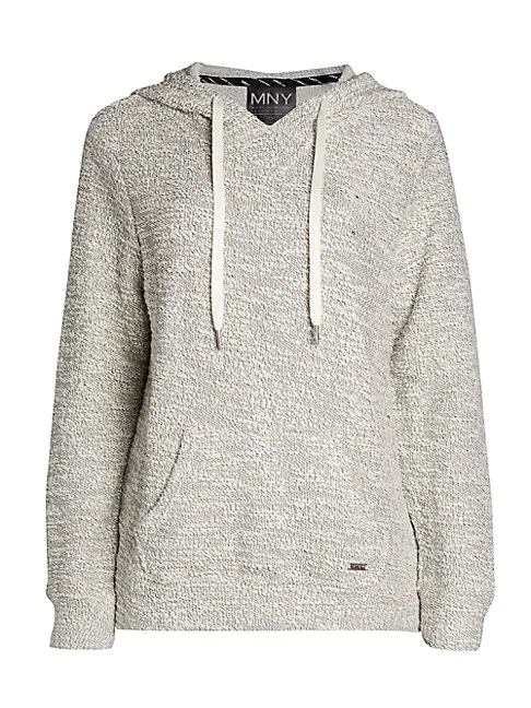 Marc New York Terry Hoodie In Ivory