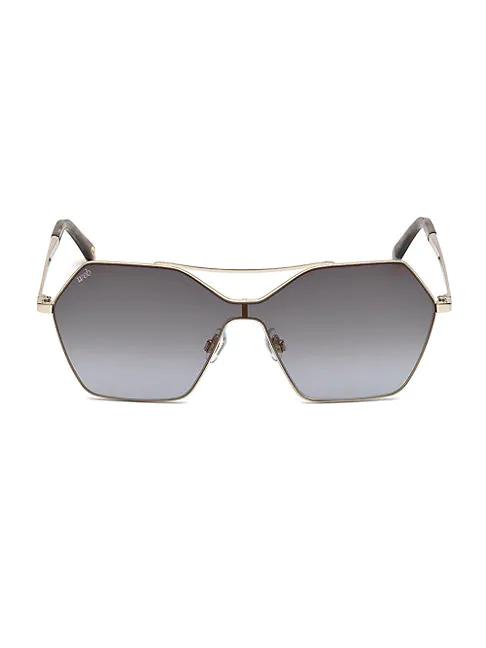 Web Aviator Sunglasses In Gold Smoke