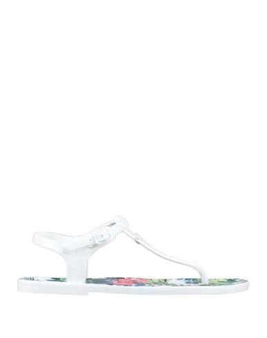 Ea7 Flip Flops In White