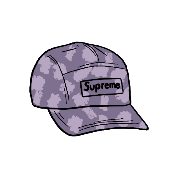Supreme Satin Digi Camo Camp Cap Light Purple