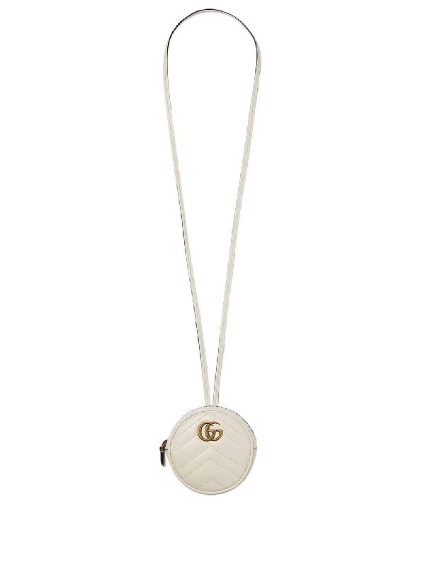 Gucci Gg Marmont Mini Bag In White
