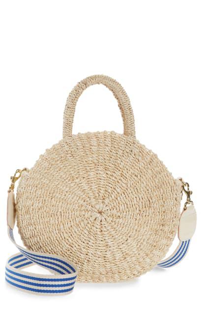 Clare V Moyen Alice Straw Bag In Cream