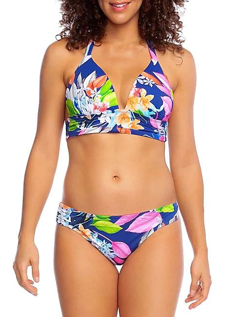 La Blanca Swim Hyper Halter Bikini Top In Blueberry