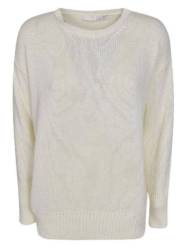 Saverio Palatella Knitted Sweatshirt In Milk