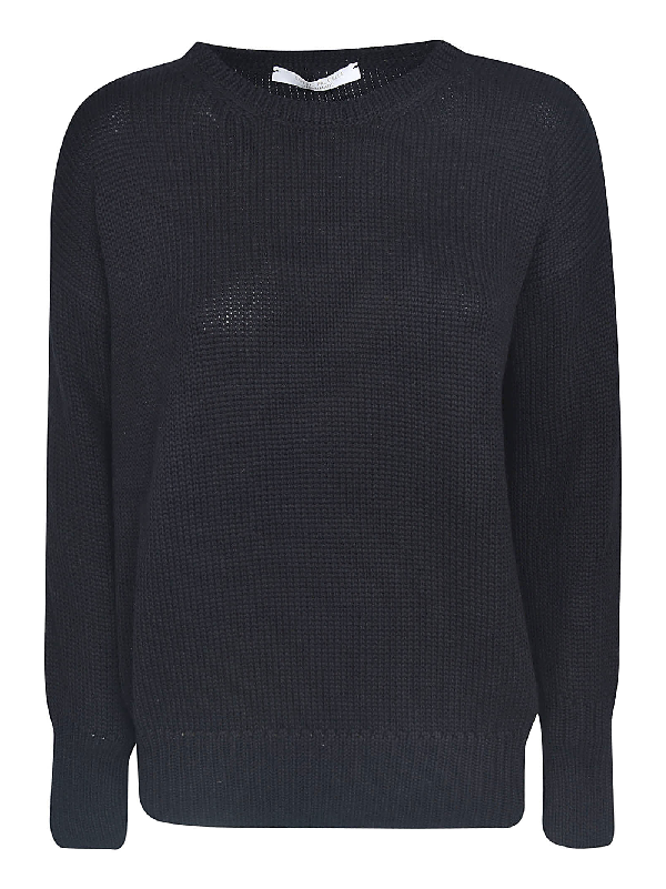 Saverio Palatella Knitted Sweatshirt In Black