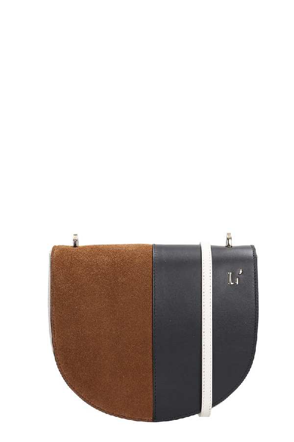 L'autre Chose Shoulder Bag In Leather Color Suede And Leather