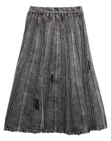Marco Bologna Denim Skirt In Grey