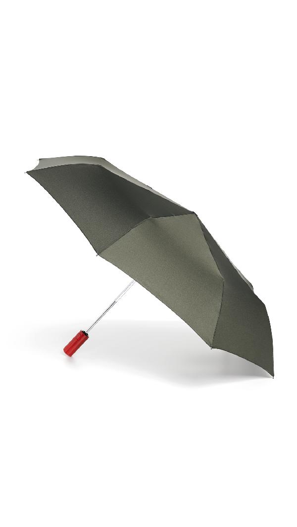 Hunter Original Auto Compact Umbrella In Dark Olive