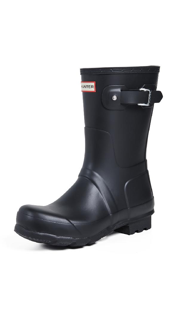 Hunter Original Insulated Waterproof Short Boot In Black