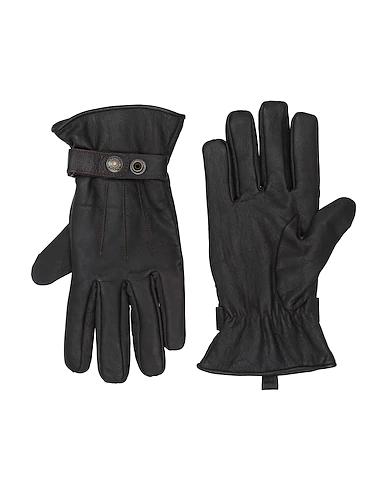 Schott Gloves In Dark Brown