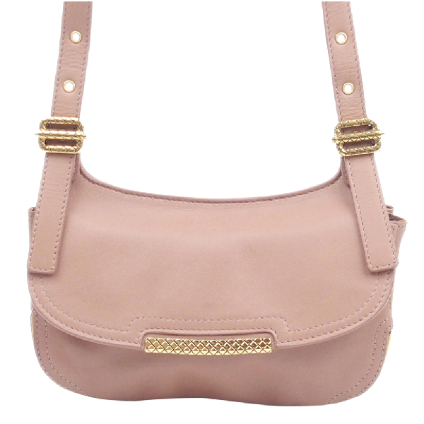 Bottega Veneta Pink Leather Crossbody Bag