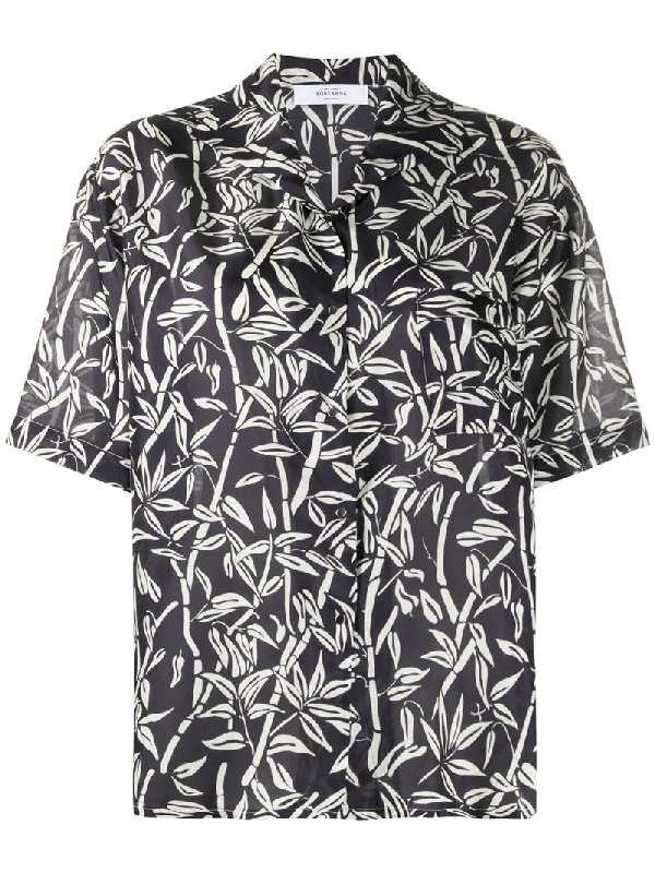 Roseanna Graphic Print Short-sleeve Shirt In Grey