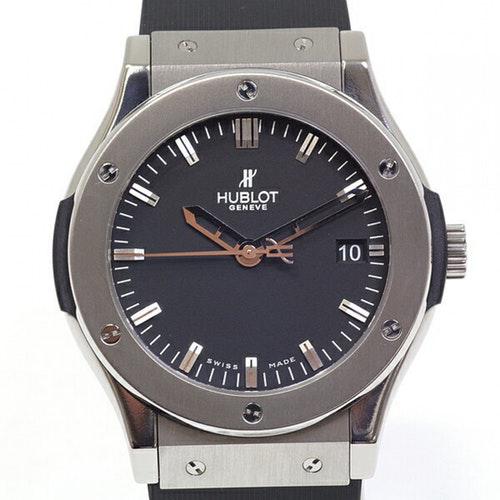 Hublot Classic Fusion Black Steel Watch