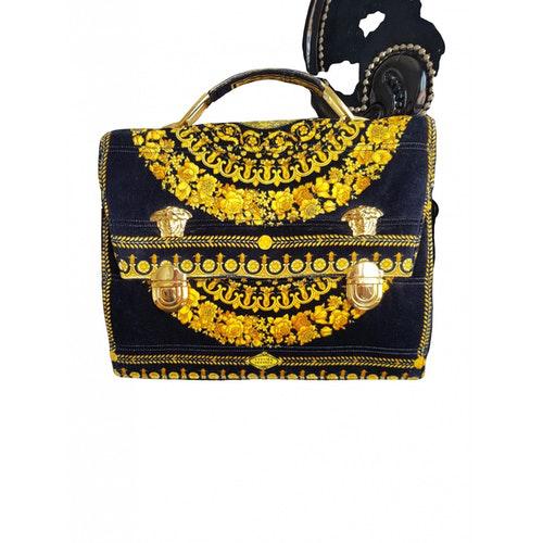 Versace Black Velvet Handbag