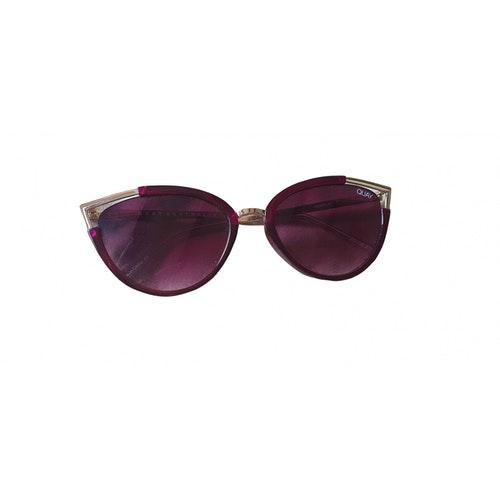 Quay Pink Metal Sunglasses