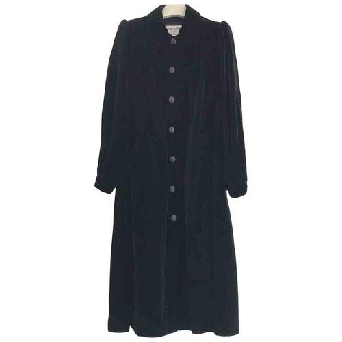 Saint Laurent Black Velvet Coat