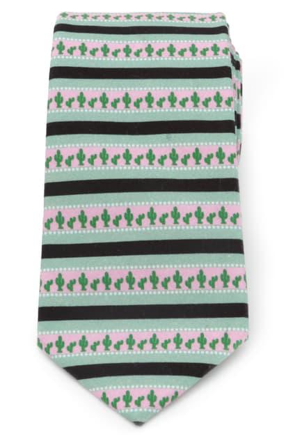 Cufflinks, Inc Texas Cactus Cotton Tie In Multi