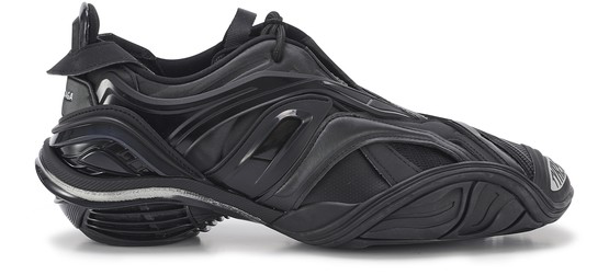Balenciaga Tyrex Panelled Faux-leather And Mesh Trainers In Black