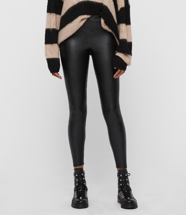 Allsaints Cora Faux Leather Leggings-black