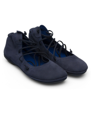 Camper Women's Right Nina Lace Up Bootie Women's Shoes In Blue