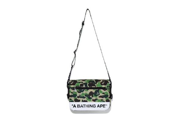 Bape Abc Camo Double Strap Bag Green