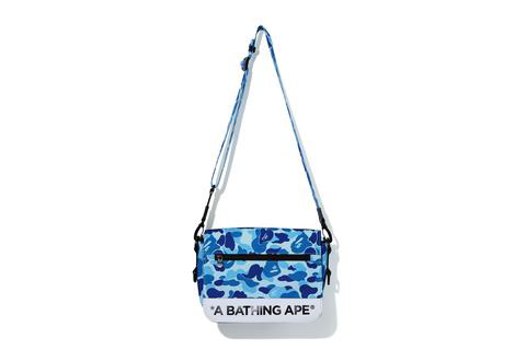 Bape Abc Camo Double Strap Bag Blue