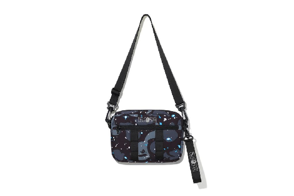Bape Space Camo Shoulder Bag Black