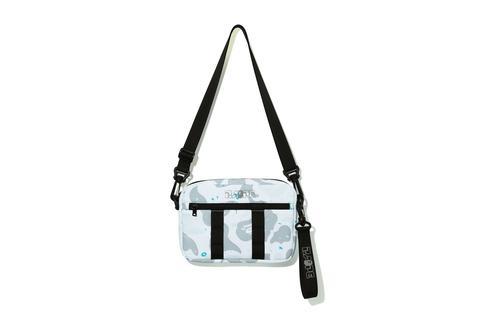 Bape Space Camo Shoulder Bag White