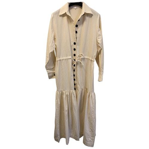 Bouguessa Beige Cotton Dress