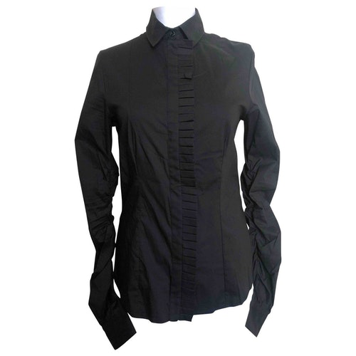 Daniele Alessandrini Black Cotton  Top