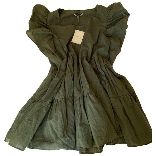 Pierre Balmain Khaki Cotton Dress