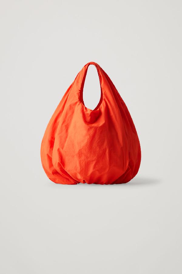 Cos Small Lightweight Shopper In Orange