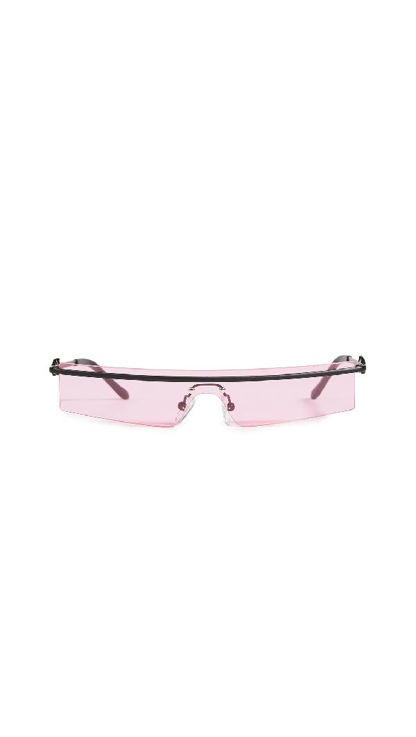 Karen Wazen 80's Sunglasses In Pink