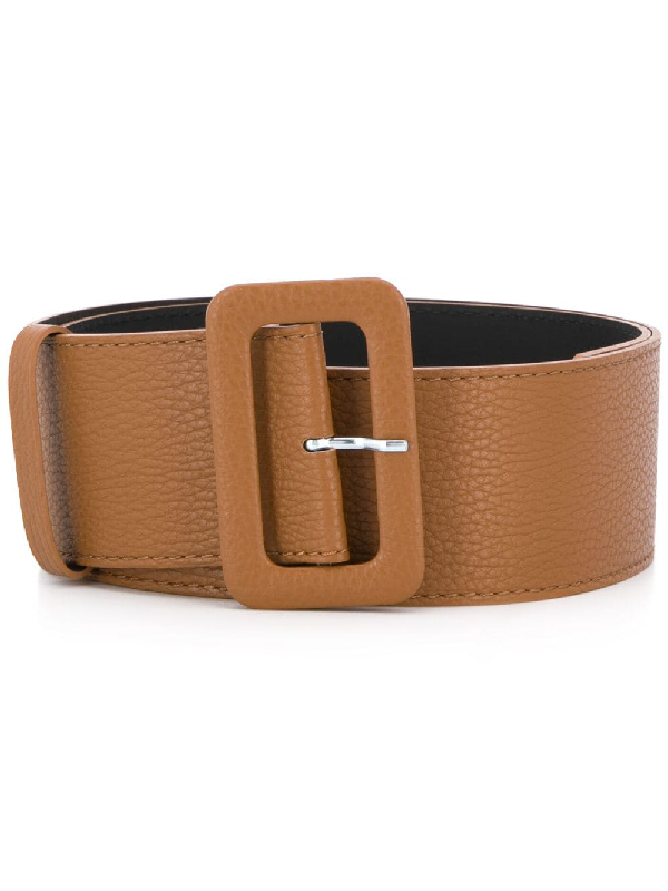 P.a.r.o.s.h. Wide-band Buckle Belt In Brown
