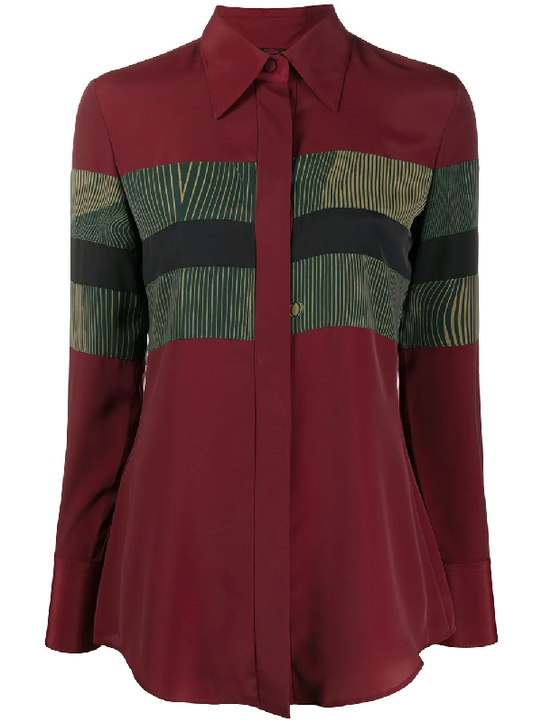 Jean Paul Gaultier 1996 Striped Panel Shirt In Red
