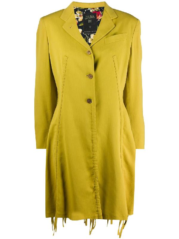 Jean Paul Gaultier 1991 Single Breasted Coat In Yellow