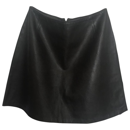 Harrods Brown Leather Skirt