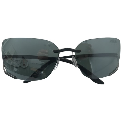 Silhouette Anthracite Metal Sunglasses