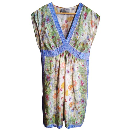 Daniele Alessandrini Multicolour Silk Dress