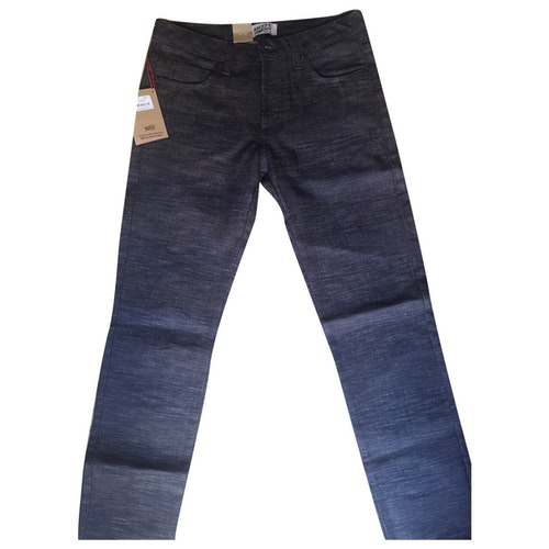 Naked & Famous Navy Cotton Jeans