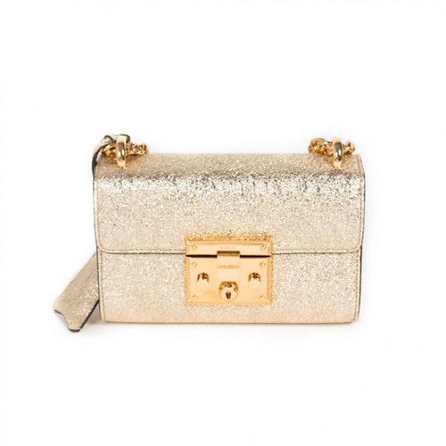 Gucci Padlock Gold Leather Handbag