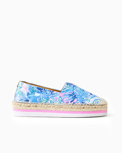 Lilly Pulitzer Marlo Espadrille In Saltwater Blue Shade Seekers Accessories Small