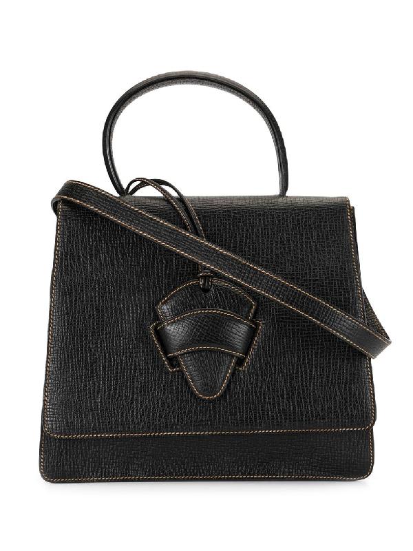 Loewe Barcelona Two-way Bag In Black